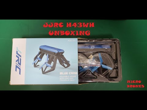 JJRC H43WH Blue Crab Unboxing