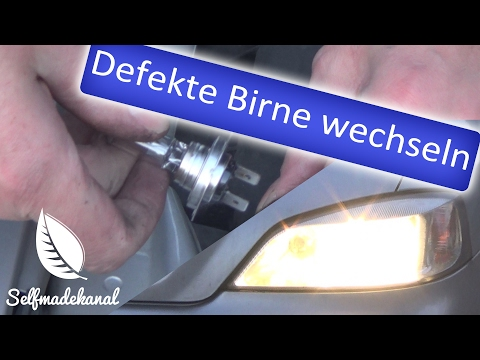 defekte Glühbirne wechseln am Opel Astra 1.6 16V