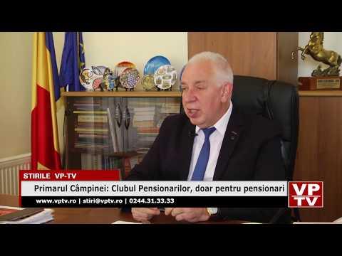 Primarul Câmpinei: Clubul Pensionarilor, doar pentru pensionari