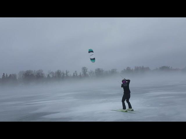 Kiteboarding on Rice Lake from Elmhirst's Resorts