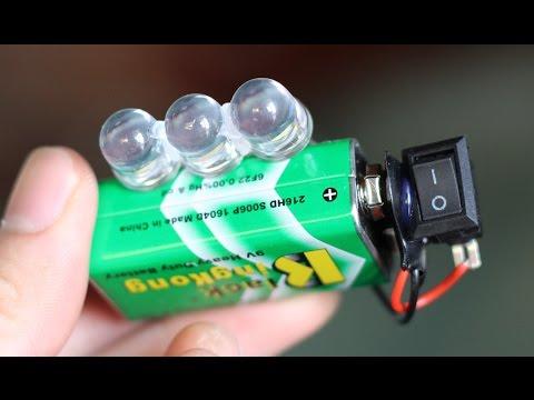 3 idee sorprendenti - 9V batteria