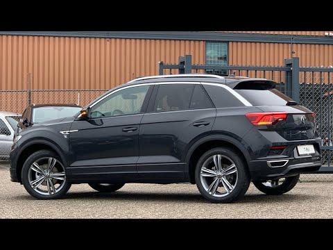 Volkswagen NEW T-roc SEL R-Line 2021 in 4K Urano Grey 18 inch Sebring Walk around & Detail  inside