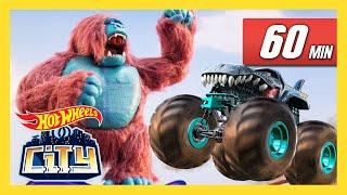 MEGA CREATURES AND MONSTER TRUCKS! | Hot Wheels City | Hot Wheels