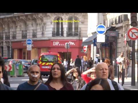 Pompier de Paris Urgence Officiers ( Spvl fois deux ) Paris Fire Dept Chiefs responding