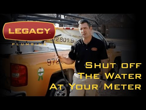 How to Shut Off The Water at the Water Meter from a Frisco, TX Plumber