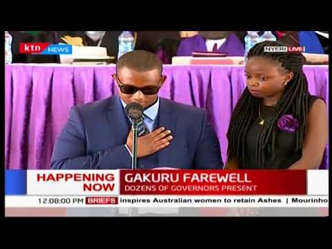 SAD! Emotional eulogy read by Wahome Gakuru's eldest son