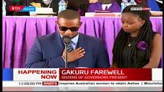 SAD! Emotional eulogy read by Wahome Gakuru's eldest son