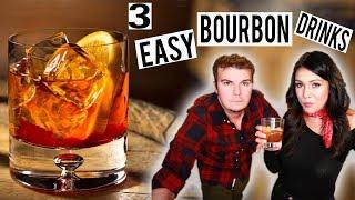 3 SUPER SIMPLE BOURBON DRINKS: Old Fashioned, Manhattan, Sazerac | Thirsty Thursday