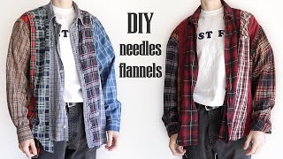 DIY Recreating Needles Flannels (thrift Project)