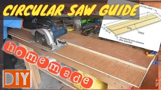 HOW TO MAKE A CIRCULAR SAW GUIDE (with Sub CC )  GUIDE RAIL  JIG  TRACK SAW  DIY By Jack Ofall