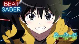 Tsukihi Araragi  - (Monogatari series) - Nisemonogatari OP 3 - Platinum Disco - Tsukihi Phoenix | Beat Saber [Expert][S Rank]