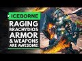 Monster Hunter World Iceborne | RAGING BRACHYDIOS Armor & Weapons Are AWESOME!