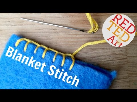Blanket Stitch How To - Basic Sewing (Embroidery & Hand Sewing)
