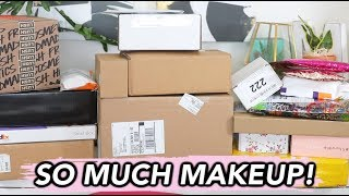 BIGGEST PR UNBOXING HAUL EVER! | SO MUCH NEW MAKEUP!