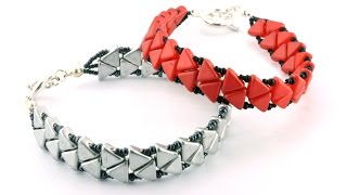 Passing Arrows Bracelet using Khéops® Par Puca Beads®