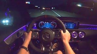 [WR Magazine] 2020 Mercedes-AMG A35 Sedan - POV Night Drive (Binaural Audio)