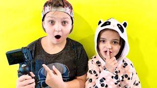 KIDS steal MOMs CAMERA! Secret Video
