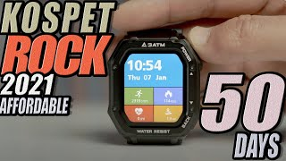 Kospet Rock First Rugged Smartwatch with LONG BATTERY in 2021