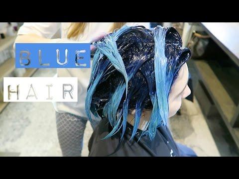 Красим волосы в синий | Покрасила дочь #2 | Barly & Naffy
