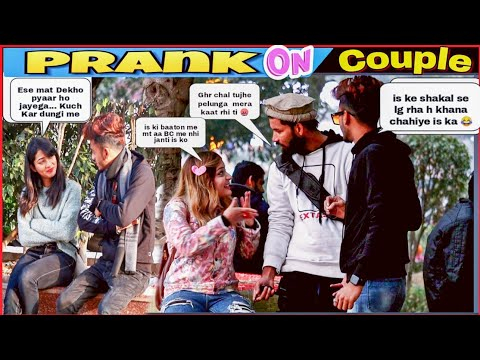 Break-up prank on Couple ki ladai krwadi + Fake Dog Prank on Cute Girl || SAHIL KHAN production