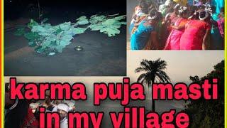 Kama puja masti in my village/vlog video..