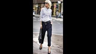 The Super Chic Work And Business Women's Outfit In Minimalistic Style.