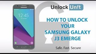 HOW TO UNLOCK Samsung Galaxy J3 Emerge