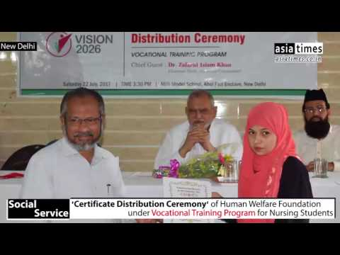 Certificate Distribution for Nursing Students | HWF | Asia Times