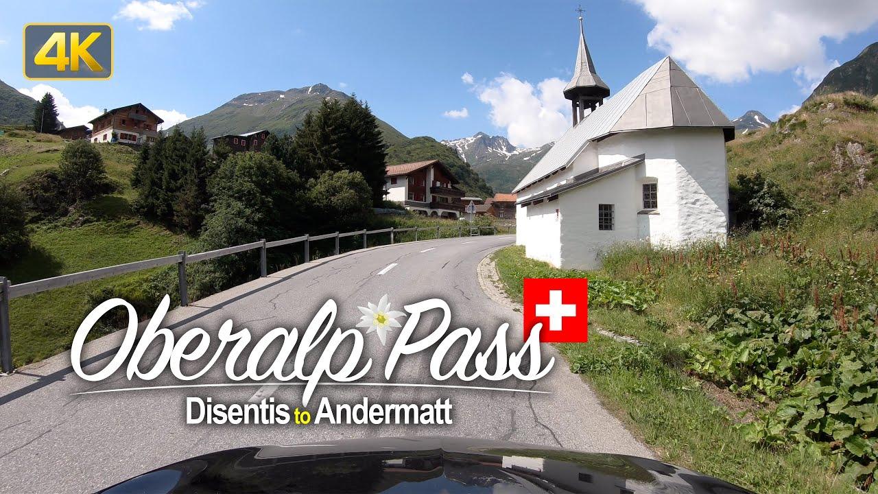 Disentis to Andermatt via Oberalp Pass – Scenic Drive Switzerland in 4K!