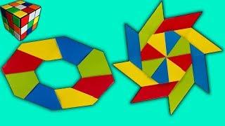 Как сделать сюрикен-трансформер из бумаги. Звезда оригами своими руками. Поделки оригами