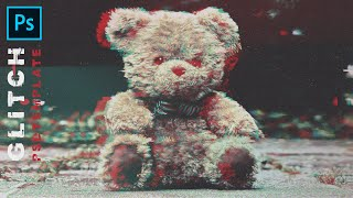 Эффект Глитч (Glitch)  в Photoshop. Free Download PSD