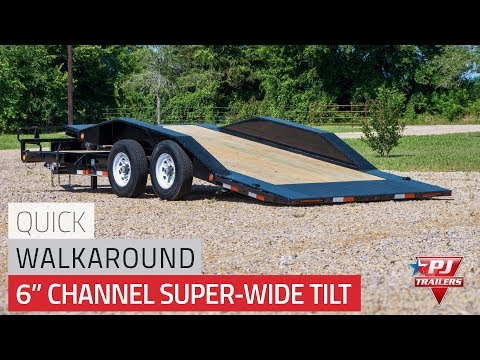 2021 PJ Trailers 6 in. Channel Super-Wide Tilt (TS) 22 ft. in Kansas City, Kansas - Video 1
