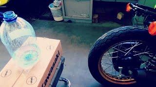 Очень ГРОМКИЙ Выхлоп Kawasaki W800 !! ( експеримент на дБ )