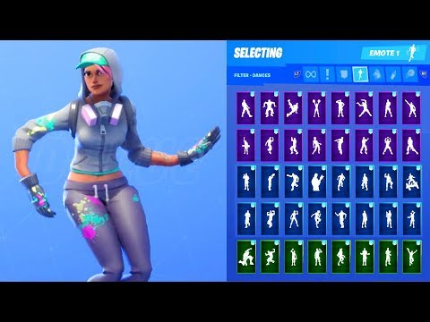 Fortnite Battle Royale Zoey Performs Pop And Lock Dance Emote