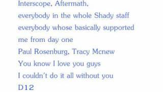 It's Been Real - Eminem (Lyrics)