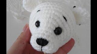 Polar Bear Amigurumi Crochet Tutorial ( Head )