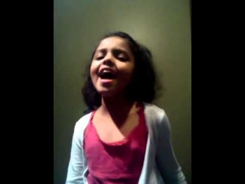 My student singing Roar.