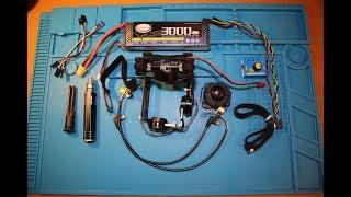 Обзор посылки – трех осевой подвес Gimbal, аккумулятор на 3000 мАч, джойстик, кабель FPV AV.