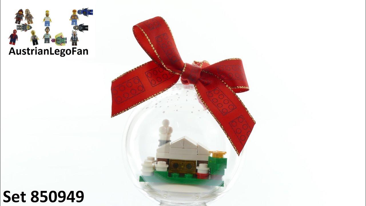 Lego Seasonal 850949 Christmas Snow Hut Ornament - Lego Speed Build Review
