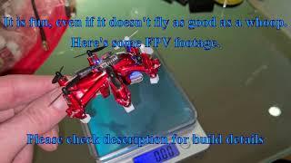 Just for fun : flying world smallest FPV hexacopter : 18g !!!