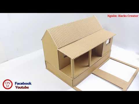 Cách Làm Một Ngôi Nhà Mô Hình Từ Bìa Cứng