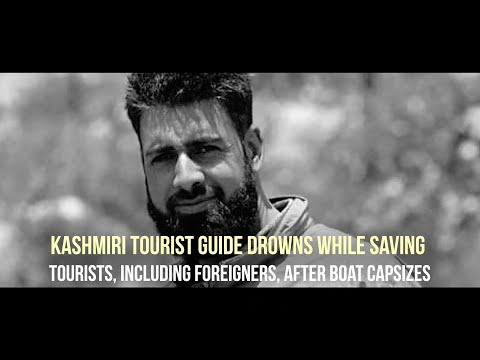 Kashmiri tourist guide drowns while saving tourists, including foreigners, after boat capsizes