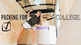 PACK WITH ME FOR COLLEGE! TIPS, TRICKS, & TIMELAPSES...