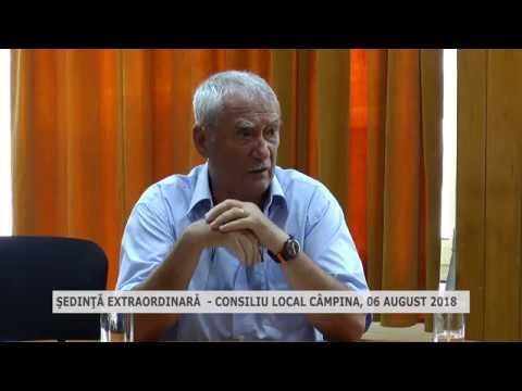 Şedinţă extraordinară CL Câmpina 06 08 2018