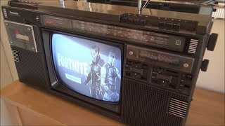 Fortnite on a 1984 Panasonic Boombox