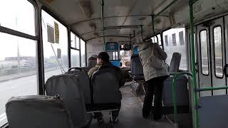 Поездка на троллейбусе №281, ЗиУ-682Г-016(018), город Балаково (первое видео)