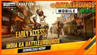 EARLY ACCESS : BATTLEGROUNDS MOBILE INDIA FIRST LOOK - GROUND