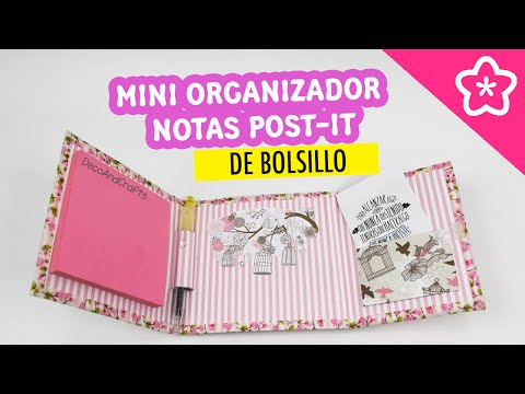 Mini Organizador de Notas Post-it de Bolsillo - DecoAndCrafts