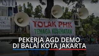 Terancam PHK, Ratusan Pekerja Ambulans Gawat Darurat Demo di Balai Kota Jakarta