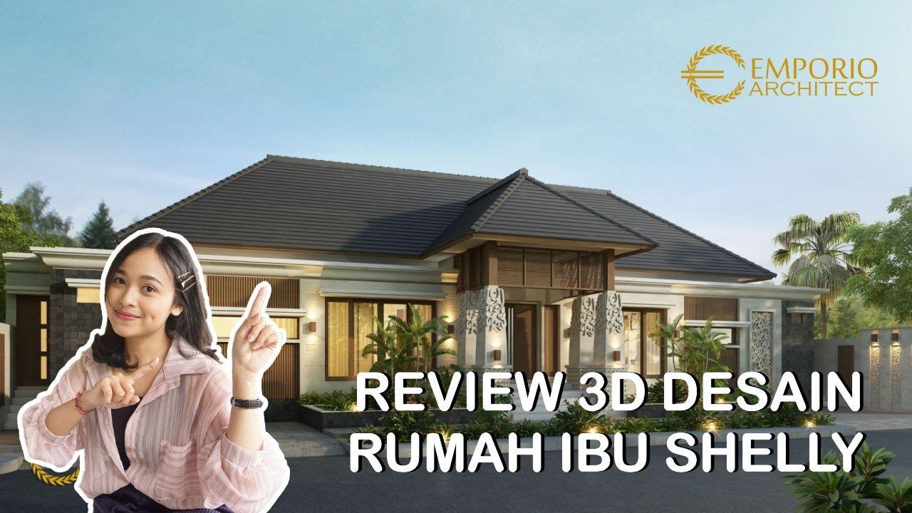 Video 3D Desain Rumah Villa Bali 1 Lantai Ibu Shelly di Palu, Sulawesi Tengah